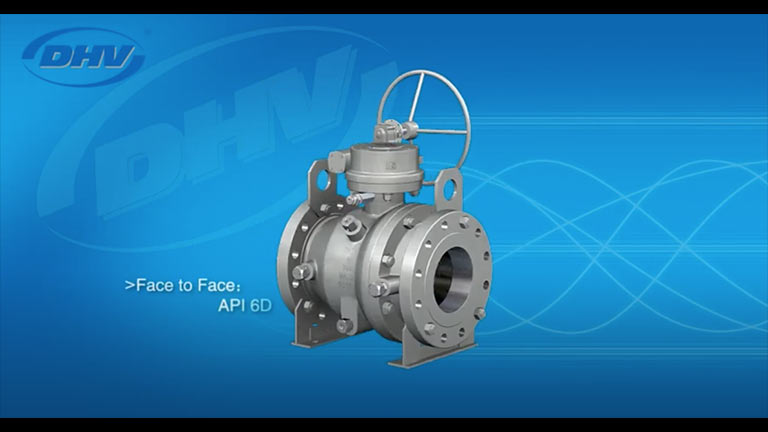 2 Piece Trunnion Mounted Ball Valve