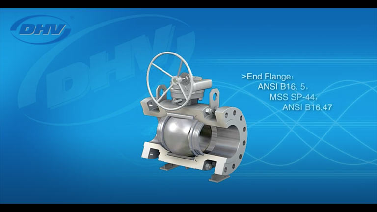 3 Piece Trunnion Mounted Ball Valve
